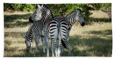 Three Zebras Beach Towel