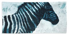 Zebra- Art By Linda Woods Beach Towel by Linda Woods