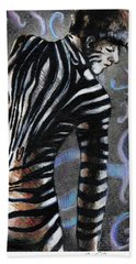 Zebra Boy At Dawn Beach Towel
