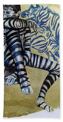 Zebra Boy The Lost Gold Drawing  Beach Towel