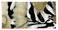 Zebra Butterfly Beach Towel