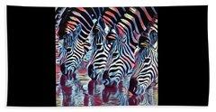 Zebra Dazzle Beach Towel