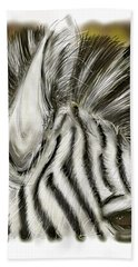 Zebra Digital Beach Towel