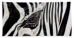 Zebra Eye Beach Towel