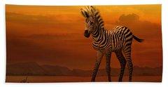 Zebra Fawn  Beach Towel