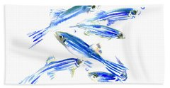 Zebra Fish, Danio Beach Towel