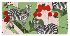 Zebra Harem Beach Sheet by Uma Gokhale