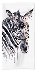 Zebra Head Beach Towel by Marian Voicu