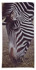 Zebra Head Beach Towel