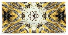 Zebra I Beach Sheet by Maria Watt