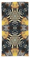 Zebra II Beach Sheet by Maria Watt