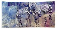 Zebra Paradise Beach Sheet