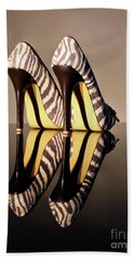 Beach Towel featuring the photograph Zebra Print Stiletto by Terri Waters