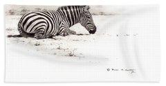 Zebra Sketch Beach Towel