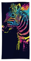 Zebra Splatters Beach Towel