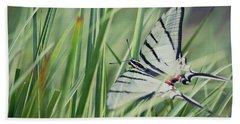 Zebra Swallowtail Beach Towel