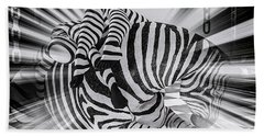 Zebra Time Beach Towel