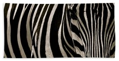 Zebra Up Close Beach Towel