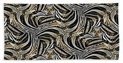 Zebra Vii Beach Sheet by Maria Watt
