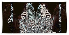 Zebraic Equation Beach Towel by Stephanie Grant