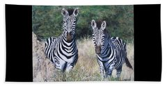Zebras In South Africa Beach Towel