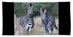 Zebras In South Africa Beach Sheet