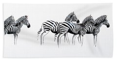 Zebrascape - Original Artwork Beach Towel