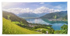Zell Am See - Alpine Beauty Beach Towel by JR Photography