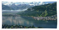 Zell Am See Panorama Beach Towel
