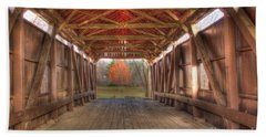Sycamore Park Covered Bridge Beach Towel