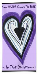 Zen Card Heart Path Beach Sheet