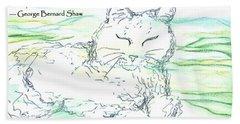 Zen Cat Beach Towel