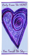 Zen Heart Pink Purple Vortex Beach Sheet