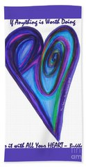 Zen Hearts Eclipse Eve Beach Sheet