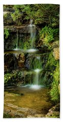 Beach Towel featuring the photograph Zen Pools - Provo River Falls by TL Mair