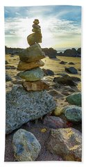 Zen Rock Balance Beach Towel