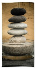 Zen Stones I Beach Sheet by Marco Oliveira