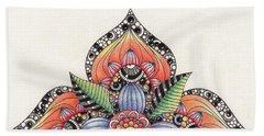 Zendala Template #1 Beach Towel by Jan Steinle