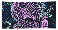 Zentangle Flower Beach Towel