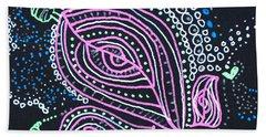 Zentangle Flower Beach Sheet