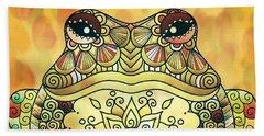 Zentangle Frog Beach Sheet
