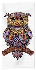Zentangle Owl Beach Sheet