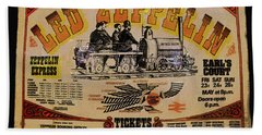 Zeppelin Express Beach Towel by David Lee Thompson