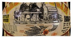 Zeppelin Express Work B Beach Towel by David Lee Thompson