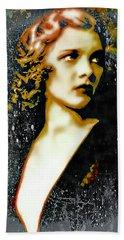 Ziegfeld Follies Girl - Drucilla Strain  Beach Towel