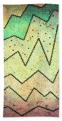 Zig Zag Two Abstract Art Beach Sheet by Ann Powell