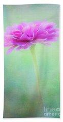 Painted Pink Zinnia Beach Towel