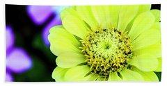 Zinnia Flower Beach Sheet