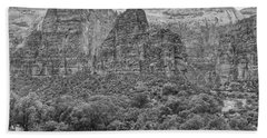 Zion Canyon Monochrome Beach Towel