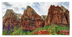 Zion N P # 41 - Court Of The Patriarchs Beach Towel